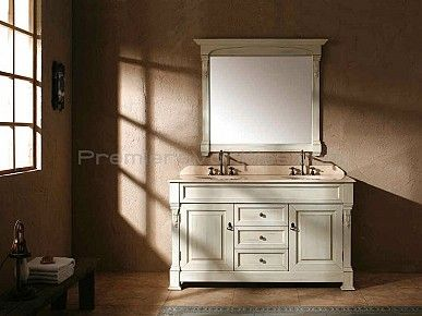 Double Vanities Double Sink Vanity With Antique White Finish