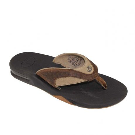 Reef slipper + opener bruin heren