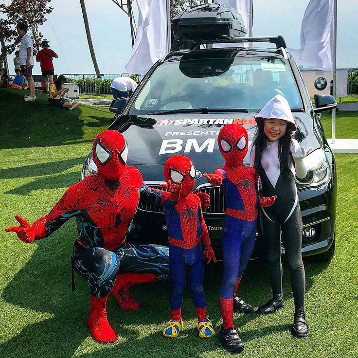 Baby siting 3 spidey kids is no joke   @Regranned from @spartanracesingapore -  Weve got mini spideys racing too! #nevertooyoung #sgspartankids #bmw #bmwsg #regrann .  Faceshell lens @oraclemadeuk  @therpcstudio  @spartanracesingapore #spidey #spiderman #spidermansg #avengers #avengerscosplay #superhero #mcu #spideysociety #cosplay #spidermancosplay #marvel #marvelcosplay #webslinger #webhead #amazingspiderman #Spiderverse #spiderversesg #thespideysociety  #mcfarlanespiderman #sgrunner…