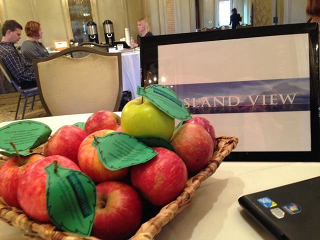 """We were in Asheville, NC this month . . . talking about our amazing college preparatory school and sharing """"apples for the teacher"""" with over 40 clinical professionals."""