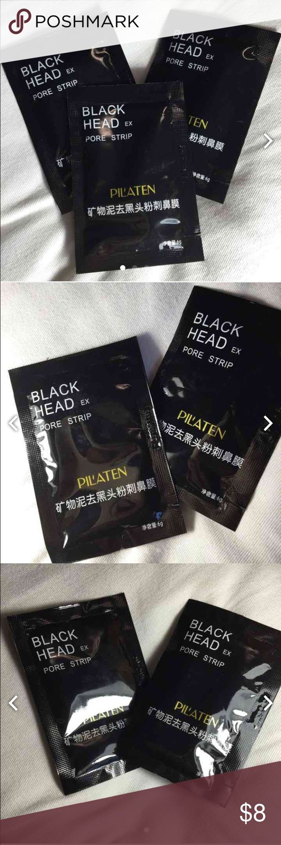 Black head pore strip PLEASE READ DESCRIPTION  Ships same/ next day Every purchase comes with a bonus free item Price for 2 Each package comes carefully packed with a bow and hand written note   Check out my other listings Don't like it own it  ONLY reasonable offers please Makeup Face Primer