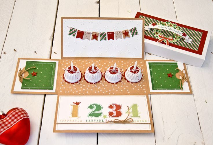 Doppel-Explosionsschachtel, Stampin' UP!, Weihnachten, Advent