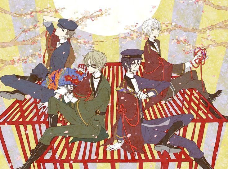 Mutsuki Hajime, Yayoi Haru, Fuduki Kai, Shimotsuki Shun || Tsukiuta