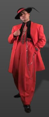 I love El Pachuco's authentic Chicano zoot suits. It's hard to find stuff for men anymore that's truly stylin'! http://www.elpachuco.com