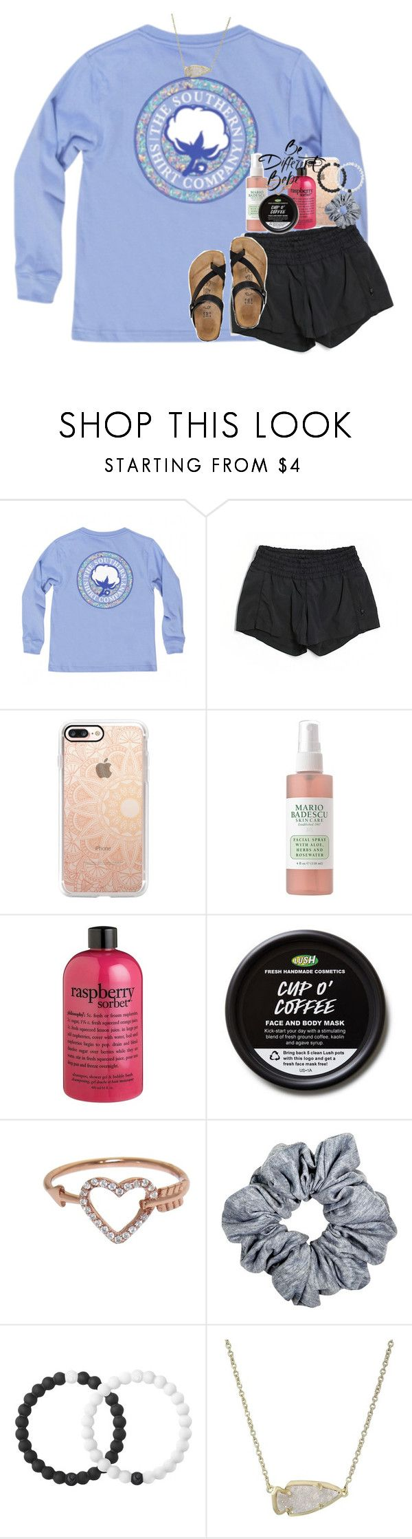 """""""for a minute i was stone cold sober. """" by ellaswiftie13 on Polyvore featuring lululemon, Casetify, Mario Badescu Skin Care, philosophy, Eternally Haute, Lokai and Kendra Scott"""