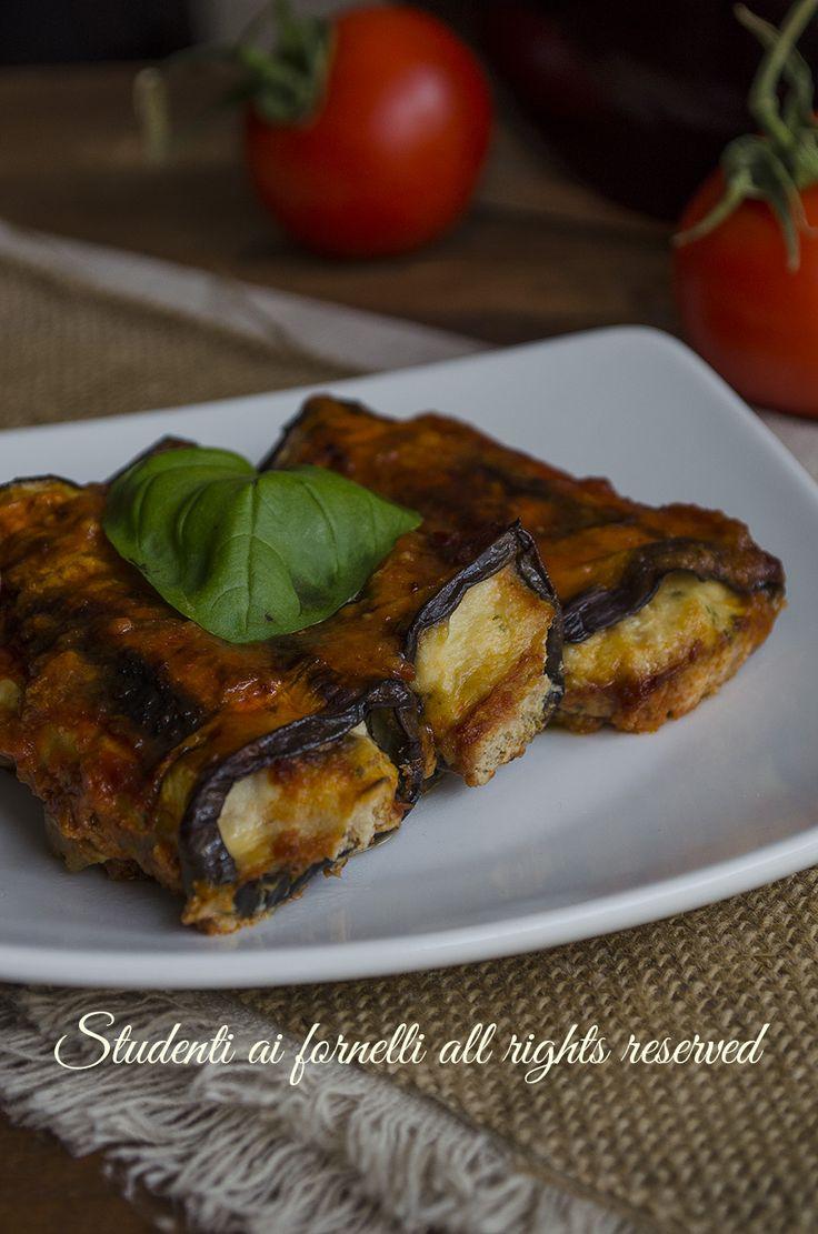 ricetta cannelloni di melanzane vegetariani con ricotta al sugo al forno ricetta primo piatto o secondo piatto