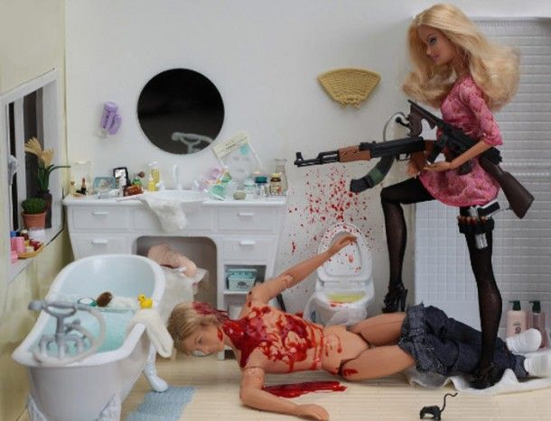 """Is Barbie a serial-killer? – 21 pictures to prove it 2011-01-21 // Fun Photography Top posts barbie      share it     tweet it  """"Dolls"""" is a photography project using the characters from Barbie as serial killer. Photos made by photographer Mariel Clayton."""