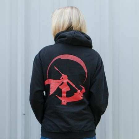 RWBY Silhouette Zipper Hoodie $39.95 RWBY logo on the front. RWBY silhouette on the back. Show your love from every direction. (I REALLY don't need this)