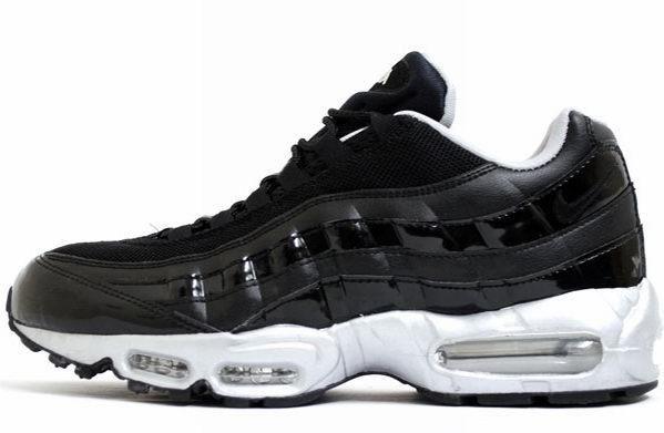 Nike Air Max 95: \u0027Attack Pack, Patent Black/Metallic Silver\u0027.