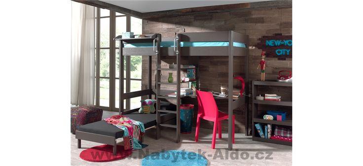 Patrová postel z masivu Pino - PIOLZB15