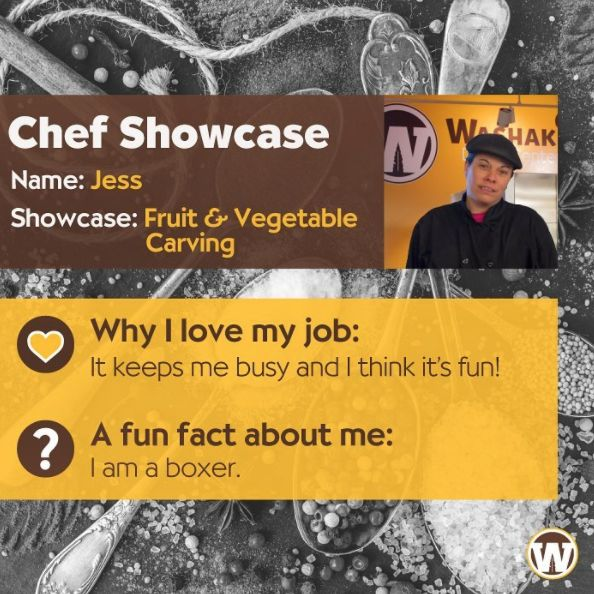 The Chef Showcase with Jess is TONIGHT from 4pm - 7pm! Come to Washakie to witness and taste some fruit & vegetable carvings!  #uwyo #uwyodining #fruit #fruits #veggies #veggie #vegetable #vegetables #carving #carvings #Laramie #Wyoming #college #university