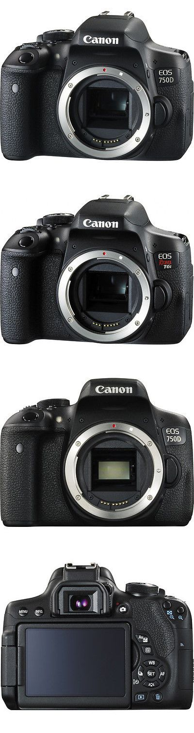 Camera Photo: Canon Eos Rebel T6i 750D Dslr Camera (Body Only) Black!! Brand New!! -> BUY IT NOW ONLY: $549.99 on eBay!