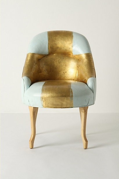 Inspired by a flea market find in the South of France, these chairs are painted by New Orleans artist Kaki Foley.