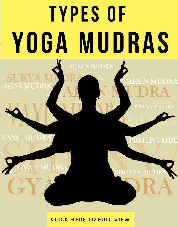 Yoga mudras and their benefits, includes: Gyan (Mudra of Knowledge), Vayu (Mudra of Air), Agni (Mudra of Fire), Prithvi (Mudra of Earth), Varun (Mudra of Water), Shunya (Mudra of Emptiness), Surya (Mudra of the Sun), Prana (Mudra of Life)  | Namasté - Yoga & Meditation