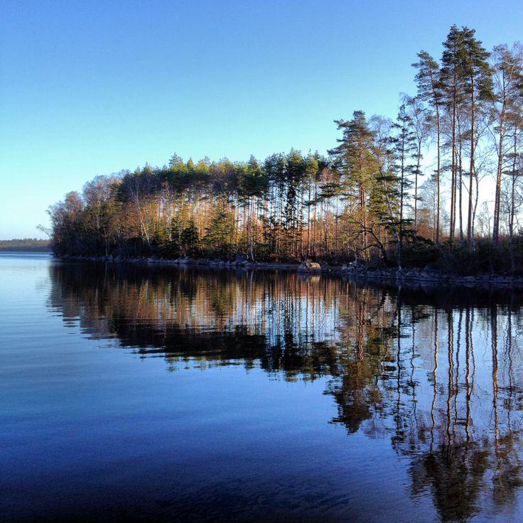 Blue morning in Småland Sweden