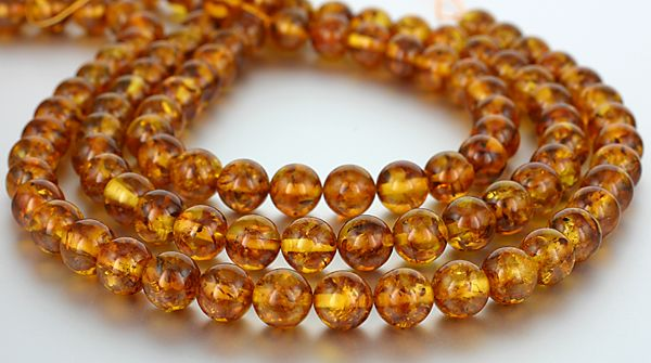 SmartyHands.com: Amber (Cognac color) round 10mm / 10cm