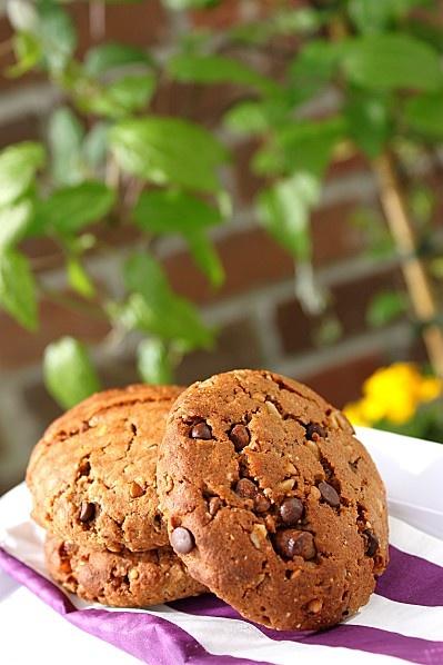 Cookies Végétaliens et Sains aux Pépites de Chocolat {sans œuf et sans beurre} @ La Cuisine d'Anna & Olivia