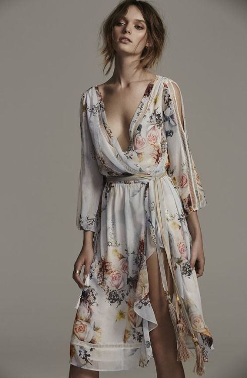 bohemian floral bridesmaid dress