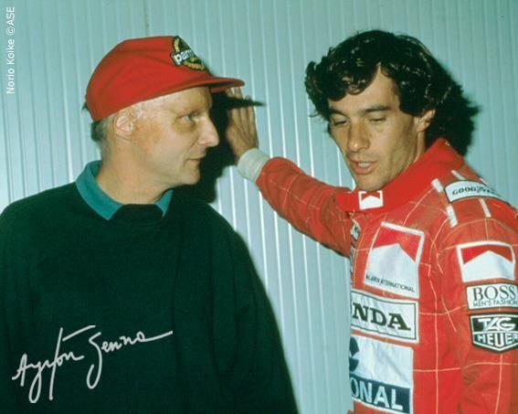 Ayrton Senna and Nikki Lauda