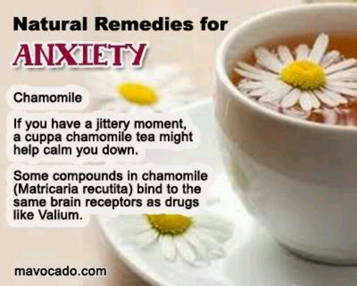 Chamomile tea anxiety