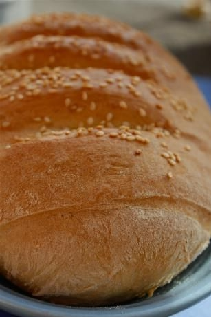 Greek Bread. A crusty Greek bread often found at delicatessens.