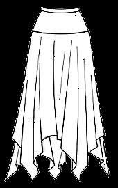 Квадратная юбка на кокетке