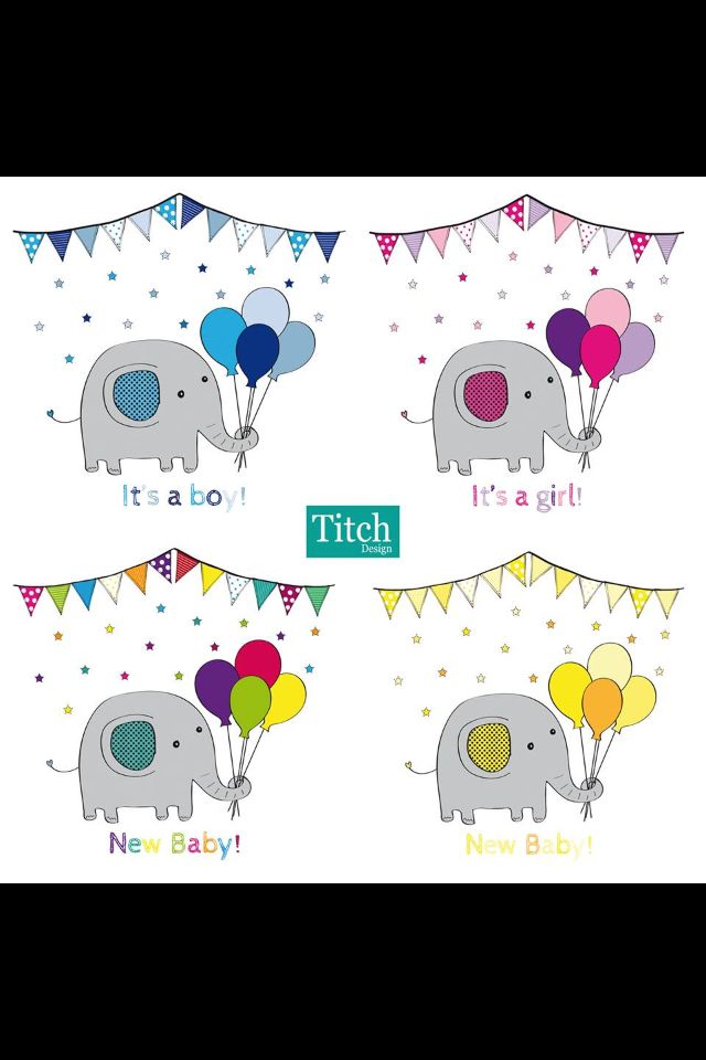 Titch Design New Baby Card Designs