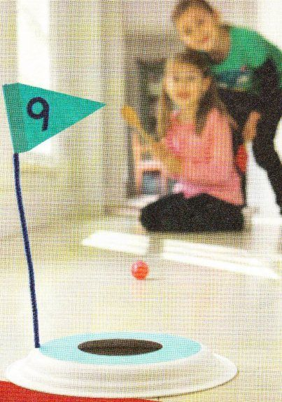 Fun indoor golf game for kids: I like this idea better for the reunion....