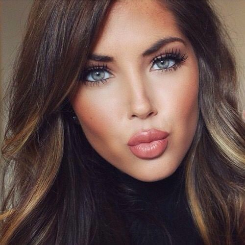 """Simply make-up [ """"natural Fall makeup look & hair color"""", """"natural Fall makeup look need to change for dark skin"""", """"natural Fall makeup look, this is lovely and ideal for autumn( the colours are very  (Best Blush Makeup)"""