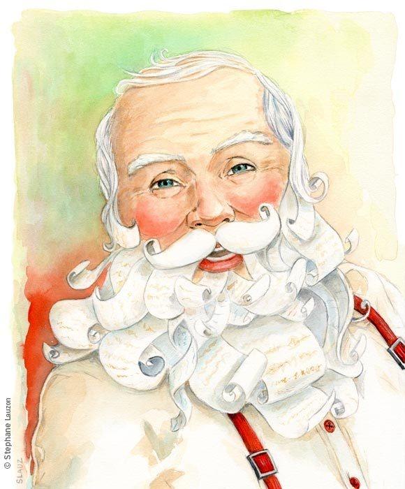 Souhaits de Noël – Wishes of Christmas by stephane lauzon, via Behance