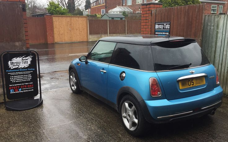 2005 Mini Cooper in this morning for 5% Carbon Limo tints to the rear.