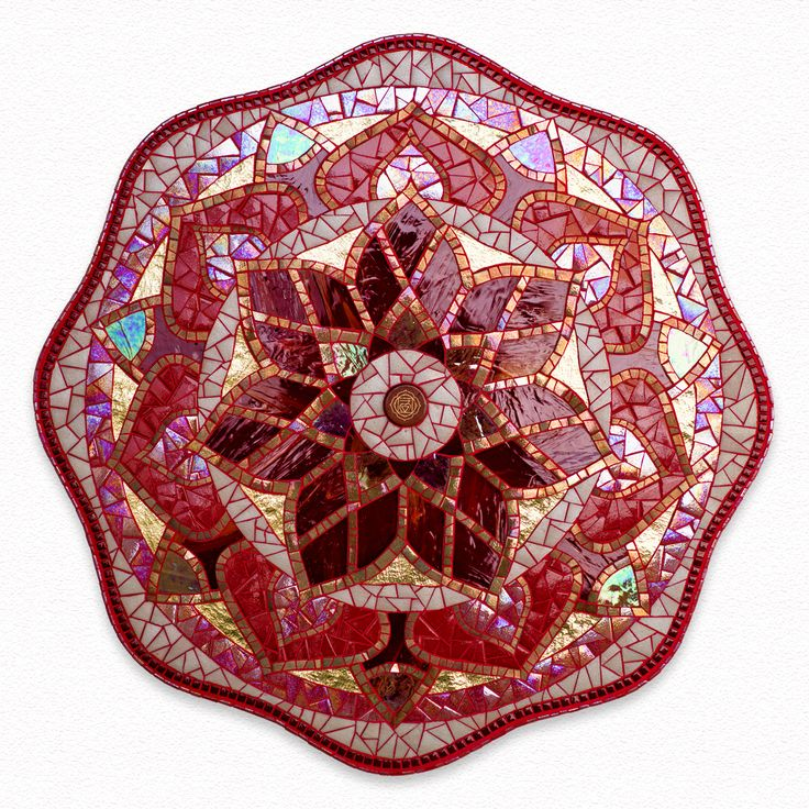 mandala mosaic root chakra