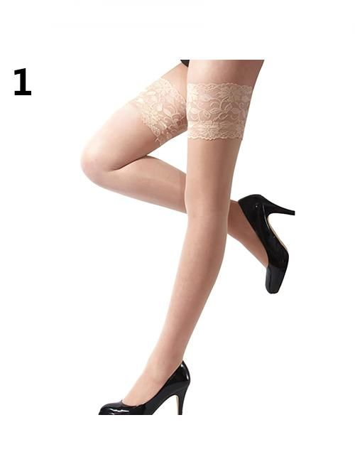 460f9df5707d9 Women's Sexy Floral Lace Top Sheer Nightclub Thigh High Over The Knee  Stockings#Lace, #Top, #Floral