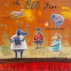 Frans Groenewald   The Big Five   Alice Art Gallery