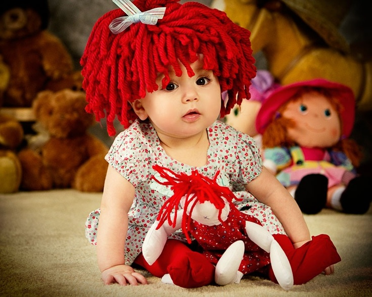 baby hat raggedy ann wig for baby girl halloween costume 5000 via - Cabbage Patch Halloween Costume For Baby