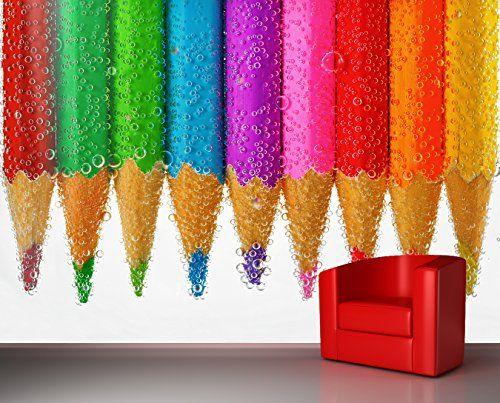 Fotomural decorativo de lapices de colores - https://vinilos.info/producto/fotomural-decorativo-de-lapices-de-colores/ Losfotomurales estan impresos en folio autoadhesivo de alta calidad. Ideal para colegios, guarderías, bibliotecas.   #HabitaciónInfantil, #HabitaciónJuvenil, #Oficina   #decoracion