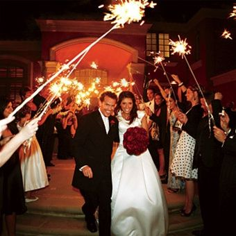I want sparklers like this as we're leaving the church!! :]