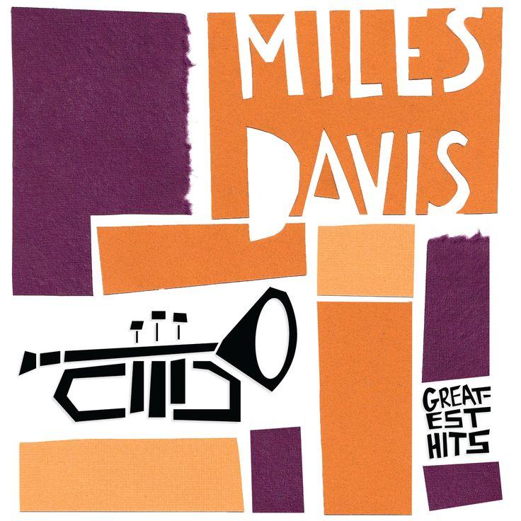 Miles Davis album cover by Saul Bass. trumpet
