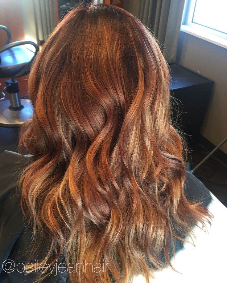 Had fun creating this fun fall hair color