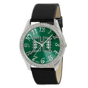 Hawaii Warriors Ladies Watch - Designer Diamond Watch by Game Time. $39.95. 50 Crystal Stones-Water Resistant Up To 3 ATM. Stainless Steel And Leather. Approximately 1 Inch Face. Officially Licensed Hawaii Warriors Ladies Designer Diamond Watch. Women. Hawaii Warriors women's watch. This Warriors designer diamond watch features a metal case with 50 crystal stones. The watch is made of a patent leather strap, brass dial, stainless steel buckle, case back and crown. Japa...