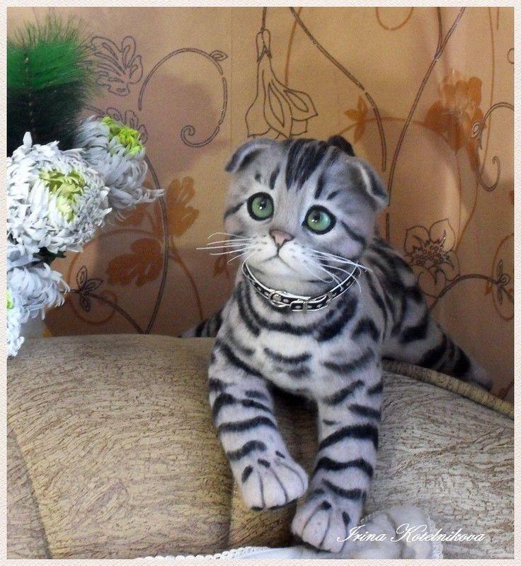 kitten, felt cat, felted animal, cat, gift for cat lover, cat art, cute cats #OOAK #alloccasions