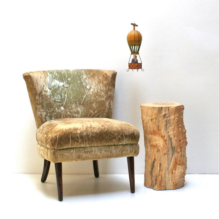 Wood Stump Side Table | Request A Custom Order And Have Something Made Just  For You