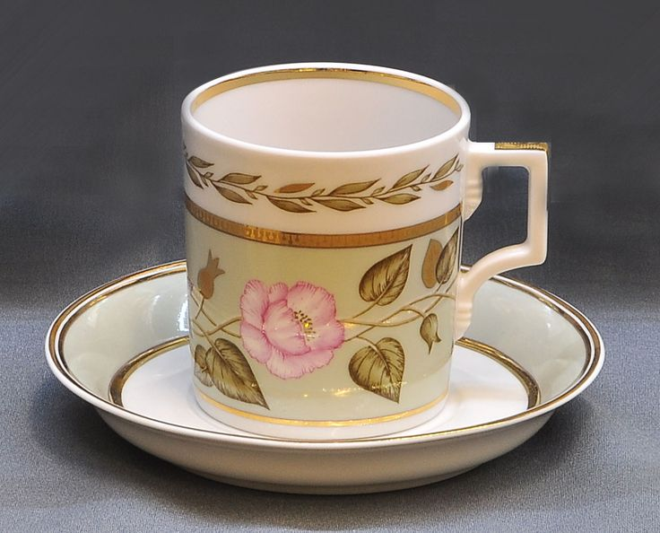 Jade Tea Cup and Saucer | Lomonosov Russia - Factory Direct from Russia