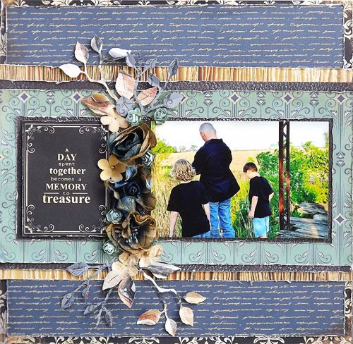 I created this family/father son layout using Kaisercraft story book papers from…