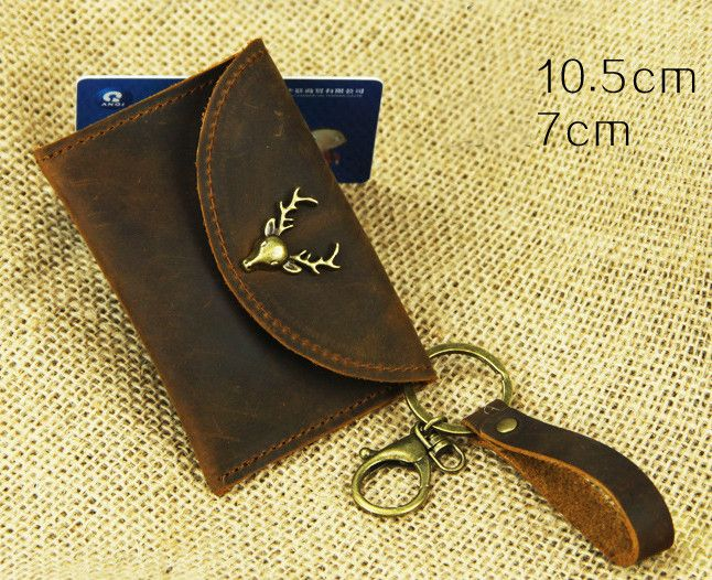 #Christmas#gift#Wallets – Handmade Cow Leather Packet Retro Change Purse H2