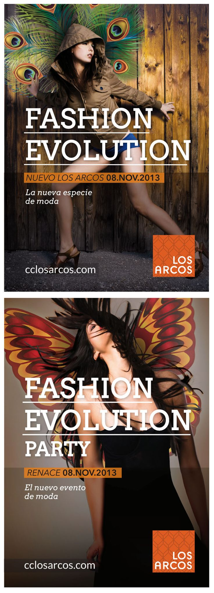 Fashion Evolution del Centro Comercial Los Arcos. Nueva imagen, campaña on-off, app en Facebook y evento exclusivo de moda. #evento #app #diseño #creatividad #proyecto