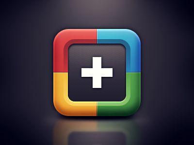 Google+ iOS Icon / Alvin Thong #ios #icon #design #app