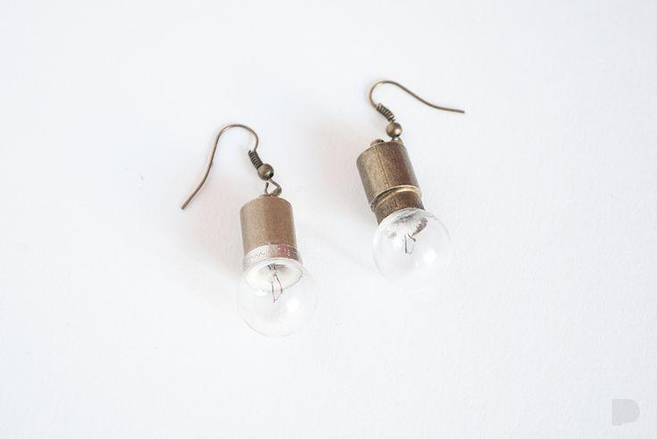 Kolejne żarówki :) Next bulb stuff :) #PINKA #handmade #jewellery #jewelry #biżuteria #earrings #kolczyki #bulb #żarówka #modern #fashion #original