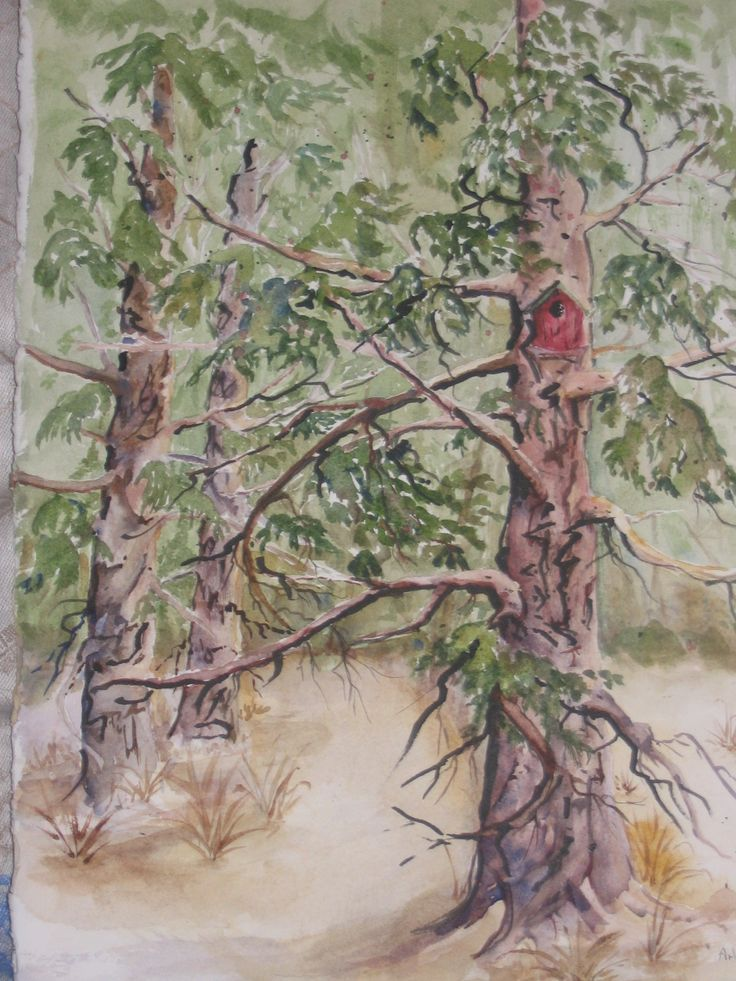 painting [watercolour] by Arlyn. [sold]