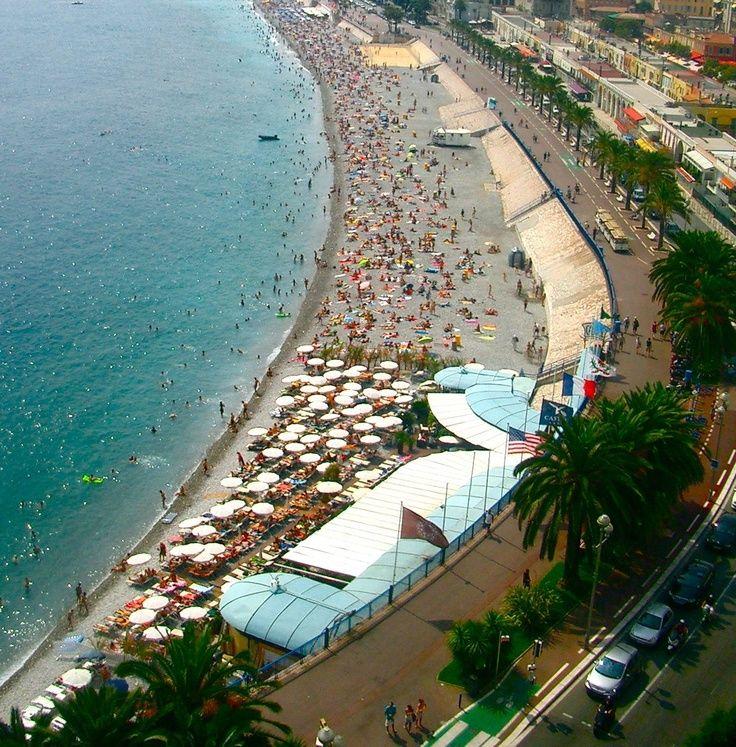 La Plage Publique de Beau Rivage in Nice France